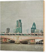 Blackfriars Bridge Wood Print