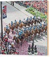 Blackhawks Parade Mtd Police Wood Print