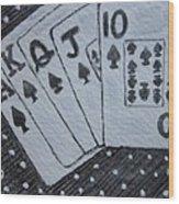 Blackjack Hand Wood Print