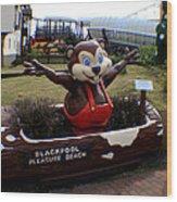 Blackpool Pleasure Beach Lancashire England Wood Print
