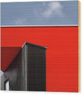 Black/red. Wood Print