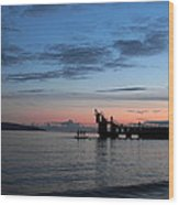 Blackrock After Sunset Wood Print by Peter Skelton
