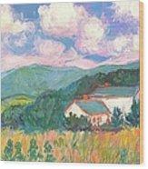 Blacksburg Clouds Wood Print