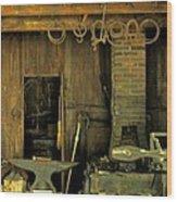 Blacksmith Anvil Wood Print