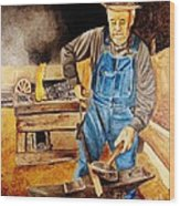 Blacksmith Wood Print