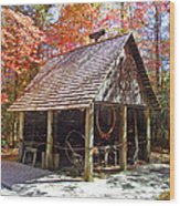 Blacksmith Shop In The Fall Wood Print
