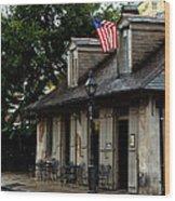 Blacksmith Shop On A Rainy Day Wood Print