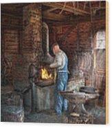 Blacksmith - The Importance Of The Blacksmith Wood Print