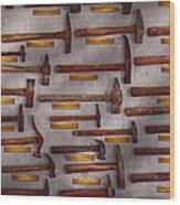 Blacksmith - Tools - Pounding Headache  Wood Print