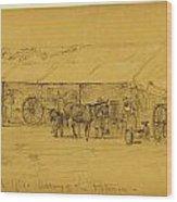 Blacksmiths Department Hd. Qts Wood Print