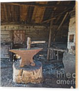 Blacksmiths Tools Wood Print