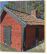 Blacksmiths Workshop Wood Print
