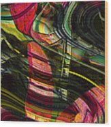 Blades In The Layered Worlds Wood Print