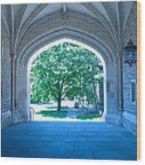Blair Hall Arch Wood Print