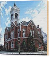 Blairsville Courthouse At Christmas Wood Print