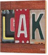 Blake License Plate Name Sign Fun Kid Room Decor Wood Print