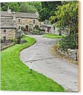 Blanchland Cottages Wood Print