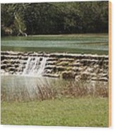 Blanco River Weir Wood Print