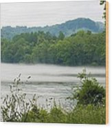 Blanket Of Fog On Clinch River  Wood Print