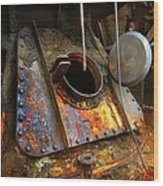 Blast Furnace Tower Tap Wood Print