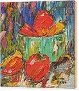 Blast Of Color Wood Print by Barbara Pirkle