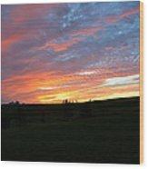 Blazing Horizon Wood Print