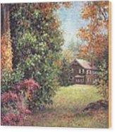 Blazing Ivy Wood Print