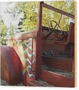 Blazing Red Fire Truck Wood Print