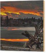 Blazing Sunset II Wood Print
