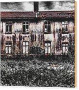 Bleeding House Wood Print