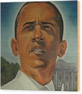 Bless Mr.obama Wood Print