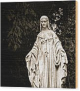 Blessed Virgin Mary Wood Print