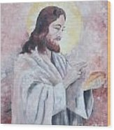 Blessing Of The Bread Wood Print