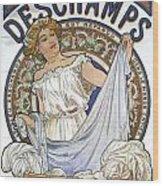 Bleu Deschamps Wood Print