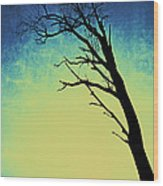Bleu Et Jaune Wood Print