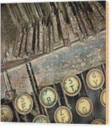 Blick 90 Typewriter Wood Print