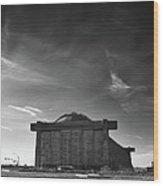 Blimp Hangar At Tustin Wood Print