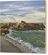 Blind Pass Storm Rocks - Captiva  Wood Print