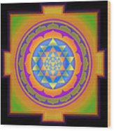 Bliss Yantra Wood Print