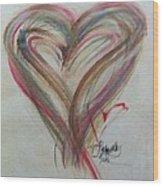 Blissful Heart Wood Print