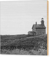 Block Island  North Light Wood Print