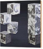 Blocks Wood Print