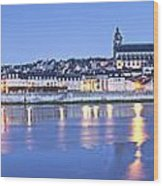Blois Loire Valley Panorama Twilight  Centre France Wood Print