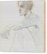 Blond Youth Wood Print