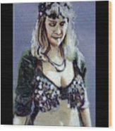 Blonde Bellydancer Wood Print