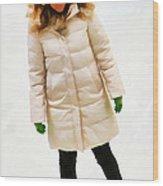 Blonde Ice Skater Wood Print