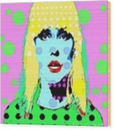 Blondie Wood Print by Ricky Sencion