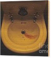 Blood In Sink Wood Print