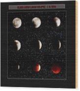 Blood Moon Lunar Eclipse 2014 Color Wood Print
