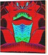 Blood Red Wood Print